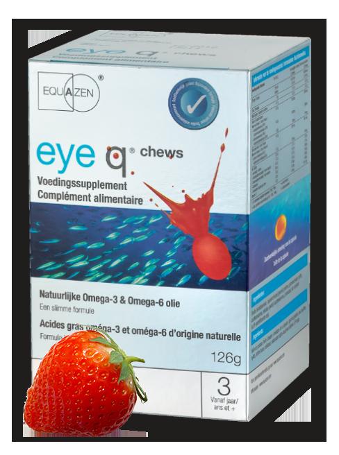 Equazen eye q chews - de slimme formule met omega 3- en 6-vetzuren
